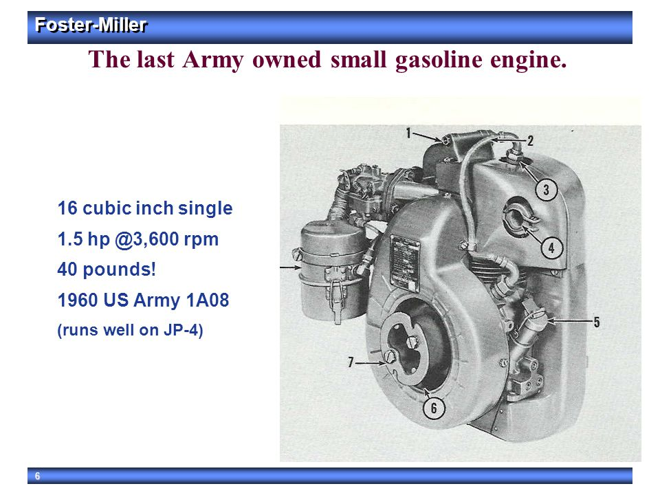 The last Army owned small gasoline engine.