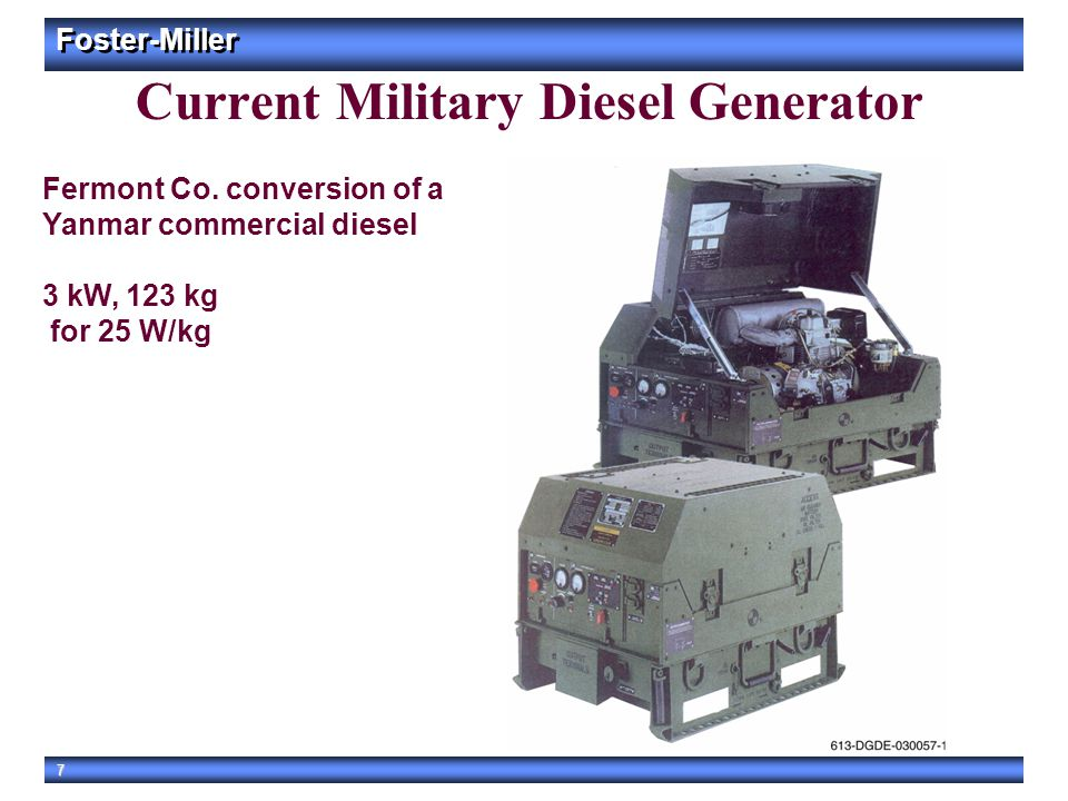 Current Military Diesel Generator