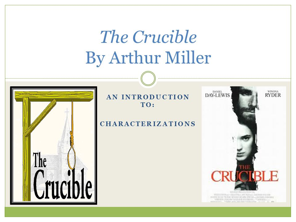 the chaos in salem in arthur millers the crucible The crucible: a play in four acts [arthur miller  starkey also acknowledged the wider implications of salem, implications miller would choose to amplify.