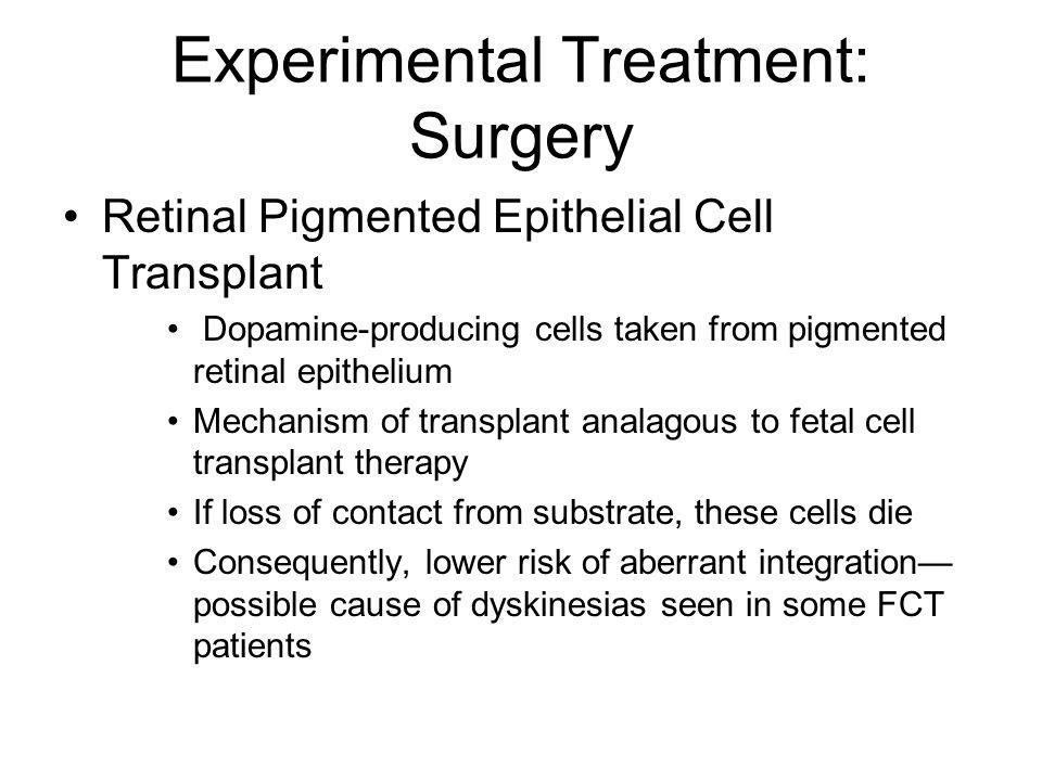 Experimental Treatment: Surgery