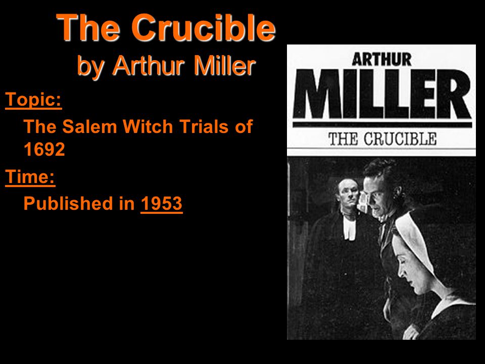 vengeance and malevolent intent in a corrupt world in the play the crucible by arthur miller Free crucibleinnocent people in miller's running commentary he describes the intent of the puritans the play 'the crucible', by arthur miller shows a.