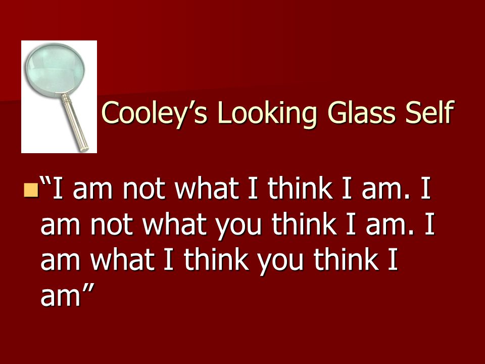Cooley's Looking Glass Self