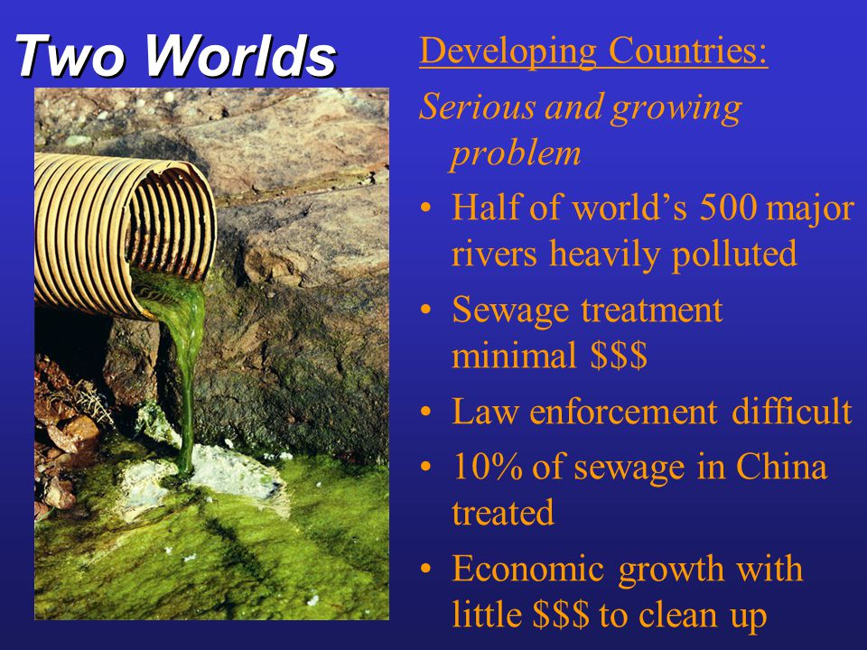 Two Worlds Developing Countries: Serious and growing problem