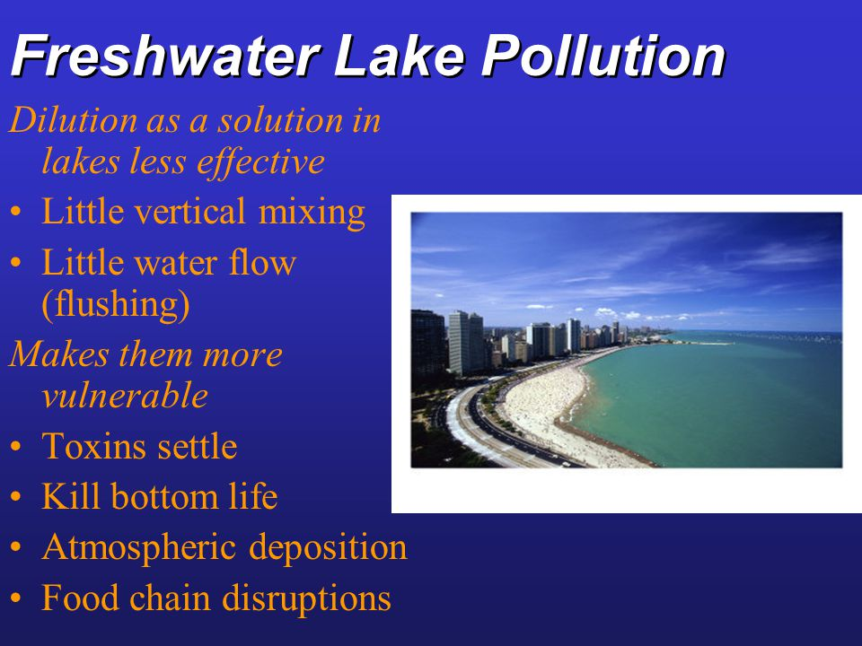 Freshwater Lake Pollution