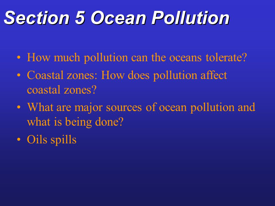 Section 5 Ocean Pollution