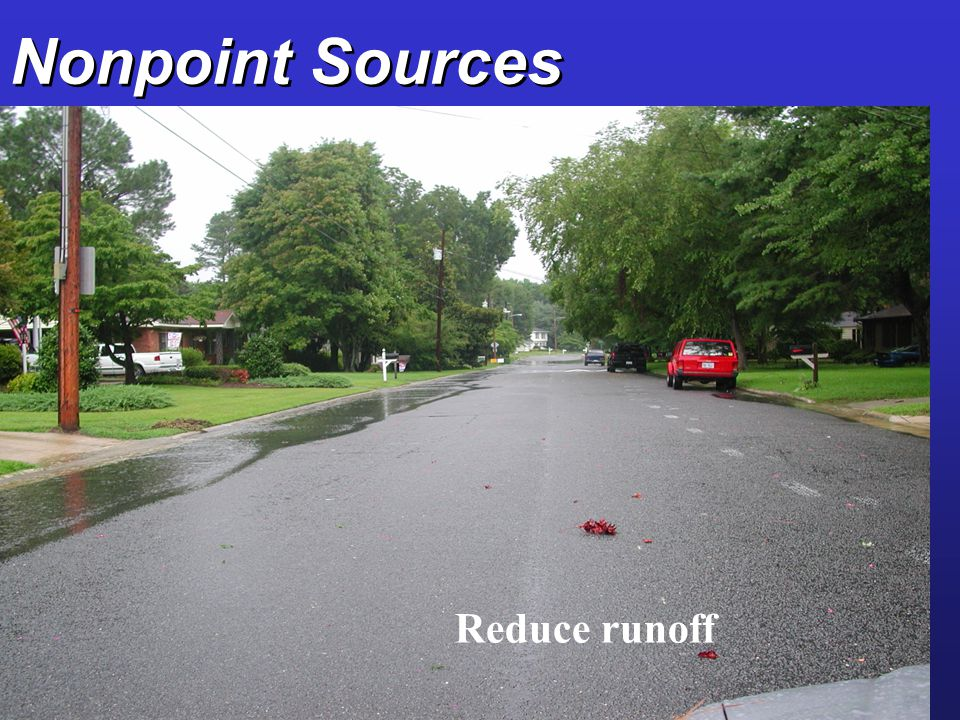 Nonpoint Sources Reduce runoff