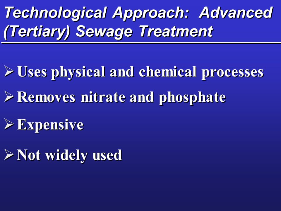 Technological Approach: Advanced (Tertiary) Sewage Treatment