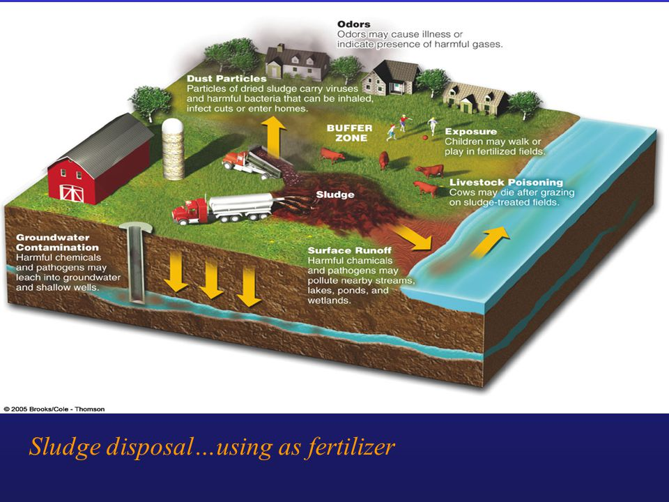 Sludge disposal…using as fertilizer