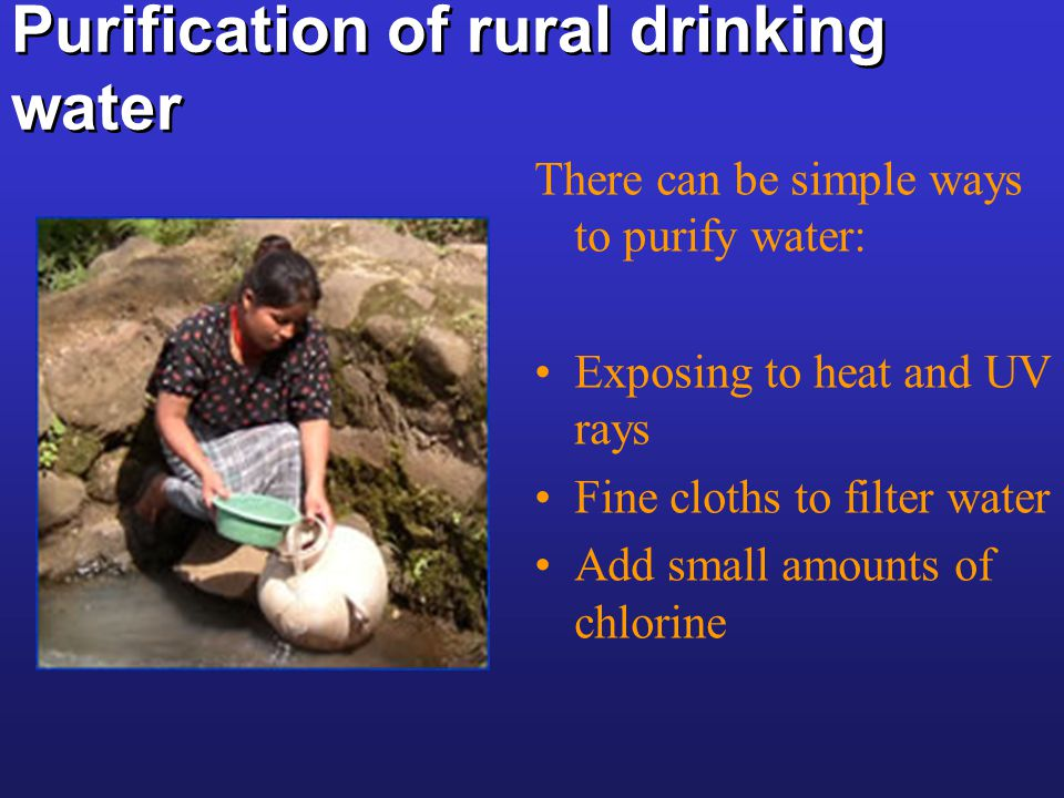 Purification of rural drinking water