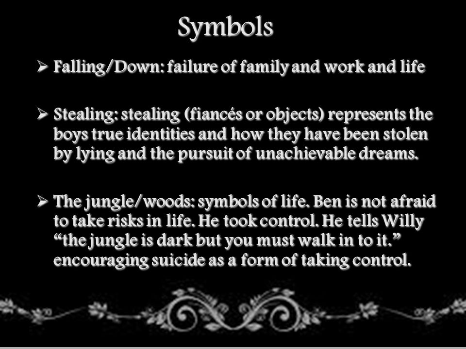 Symbols Falling/Down: failure of family and work and life