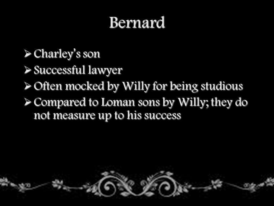 Bernard Charley's son Successful lawyer