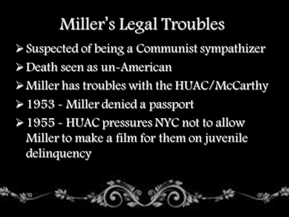 Miller's Legal Troubles