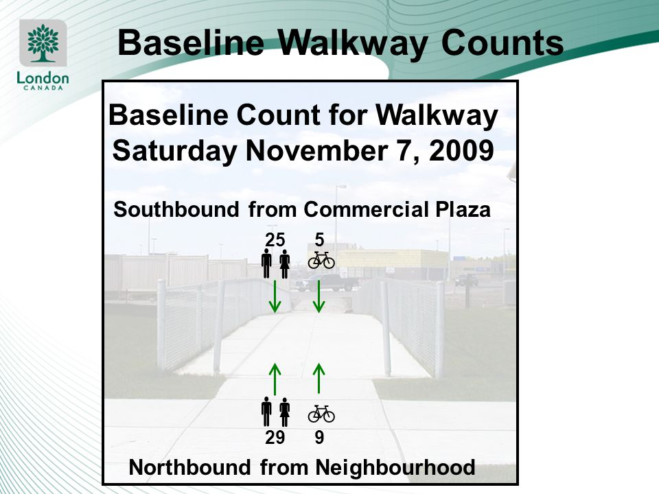 Baseline Walkway Counts