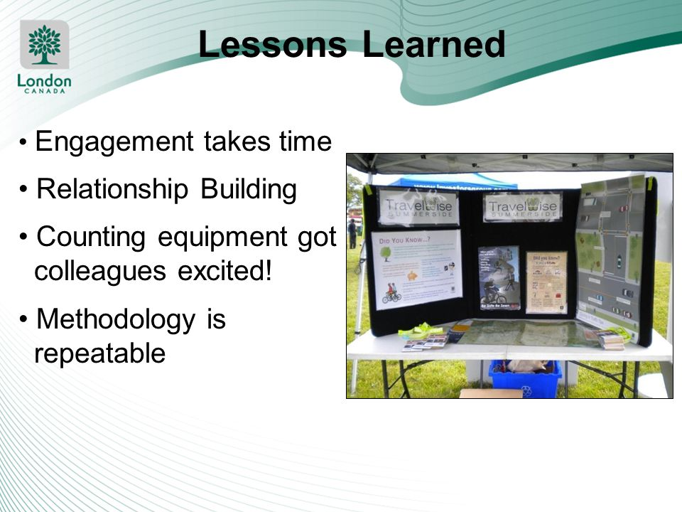 Lessons Learned Relationship Building Counting equipment got