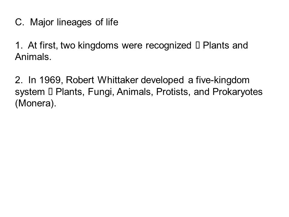 C. Major lineages of life
