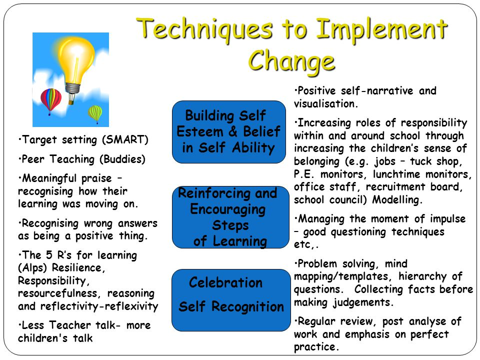Techniques to Implement Change