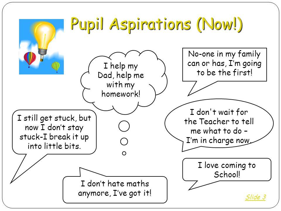 Pupil Aspirations (Now!)