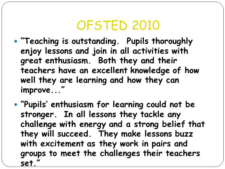 OFSTED 2010