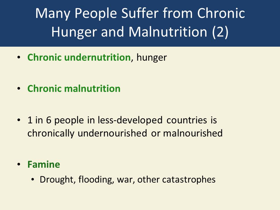 Many People Suffer from Chronic Hunger and Malnutrition (2)
