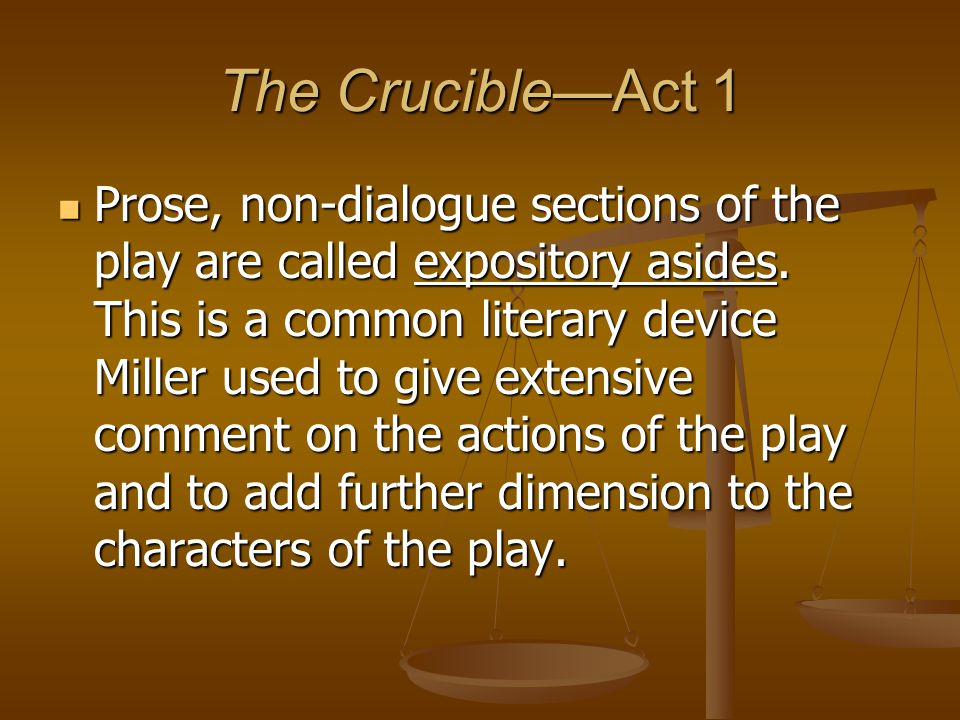 The Crucible—Act 1