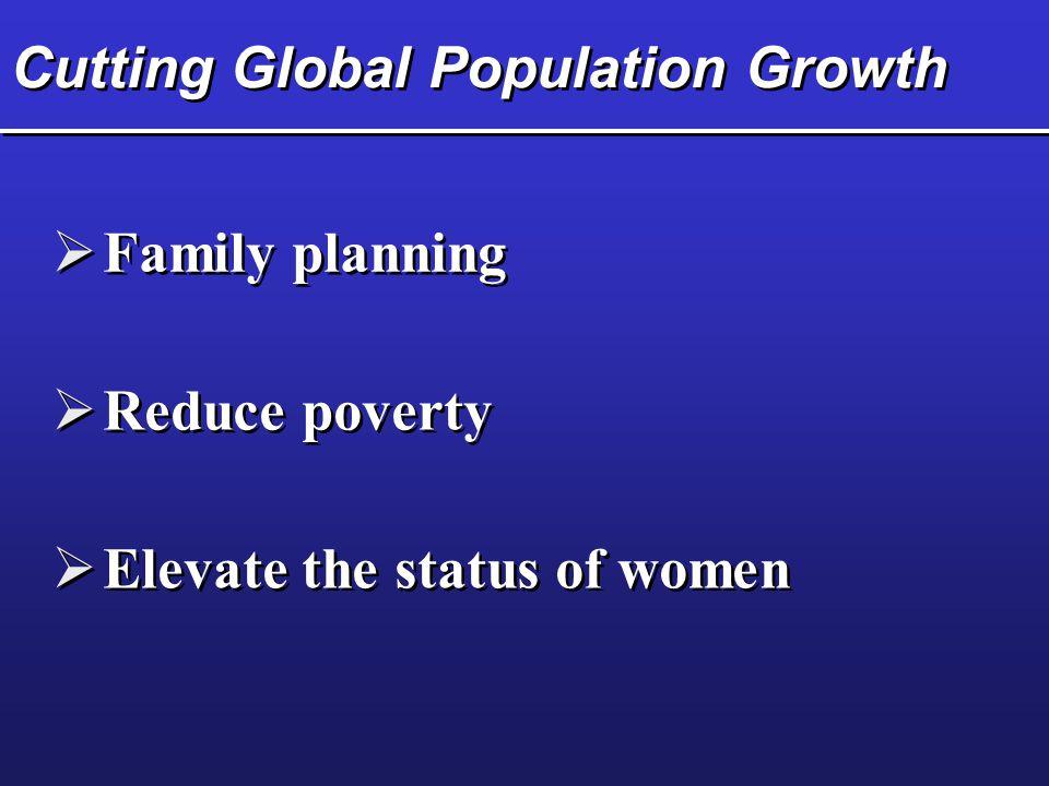 Cutting Global Population Growth