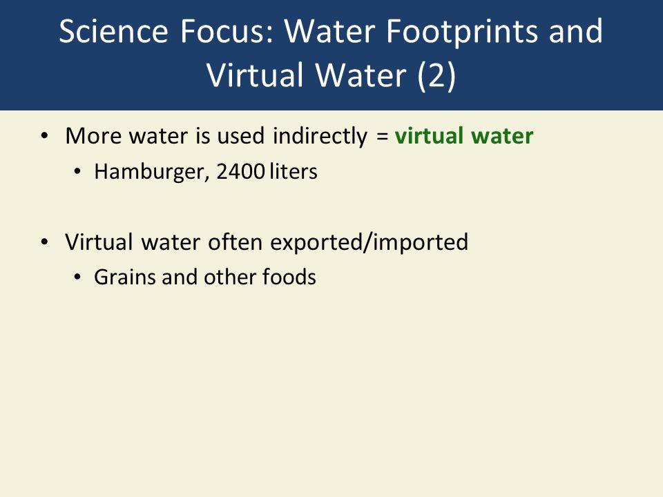 Science Focus: Water Footprints and Virtual Water (2)