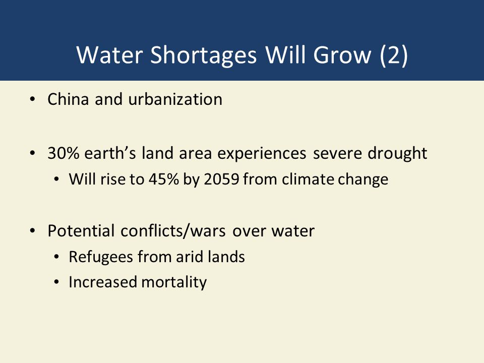 Water Shortages Will Grow (2)