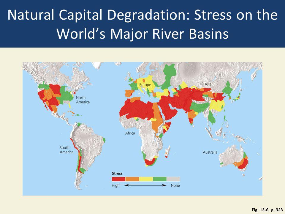 Natural Capital Degradation: Stress on the World's Major River Basins