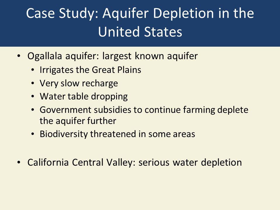 Case Study: Aquifer Depletion in the United States