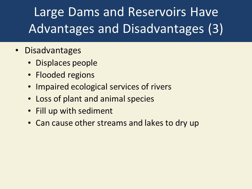Large Dams and Reservoirs Have Advantages and Disadvantages (3)