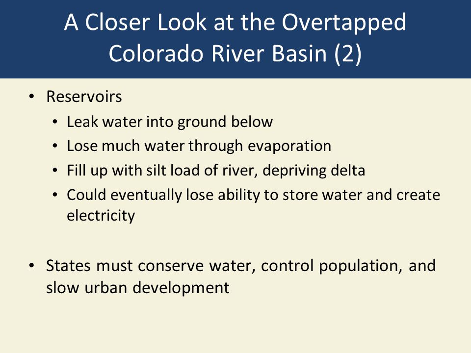 A Closer Look at the Overtapped Colorado River Basin (2)