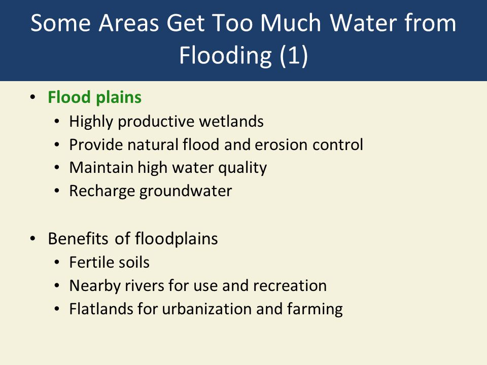 Some Areas Get Too Much Water from Flooding (1)