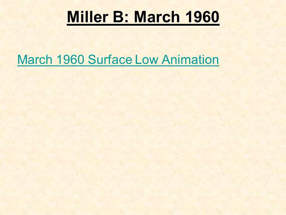 Miller B: March 1960 March 1960 Surface Low Animation