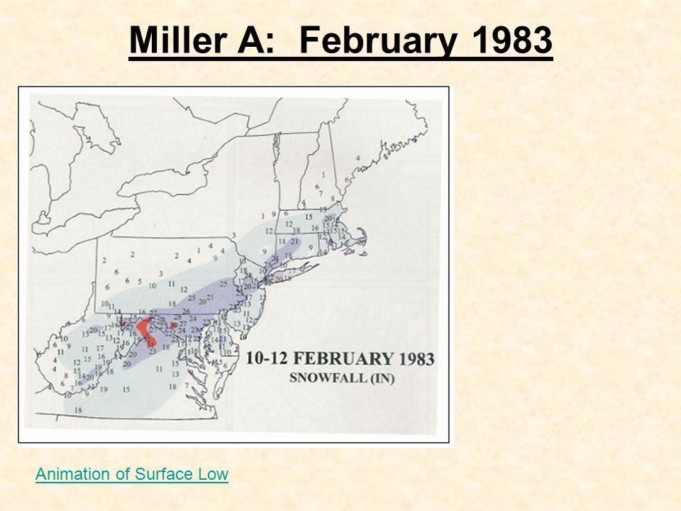 Miller A: February 1983 Animation of Surface Low