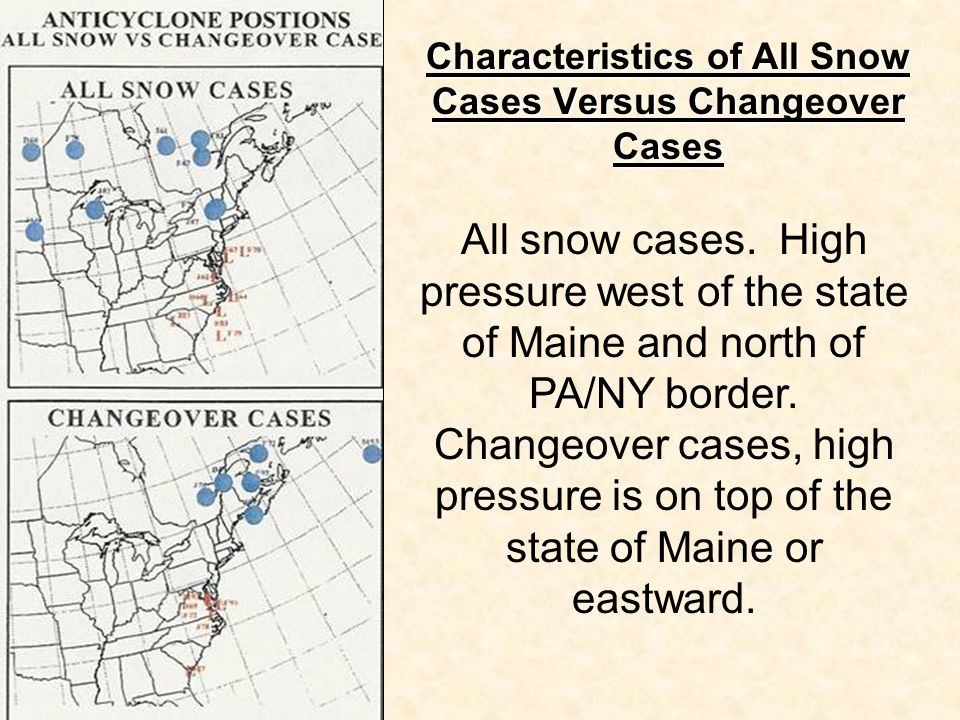 Characteristics of All Snow Cases Versus Changeover Cases