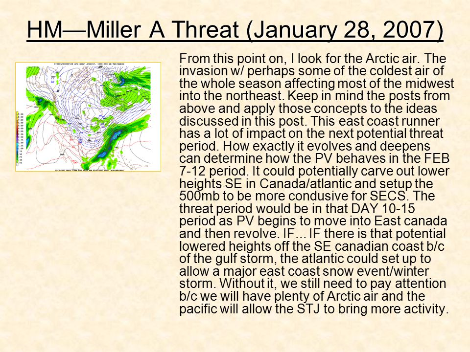 HM—Miller A Threat (January 28, 2007)