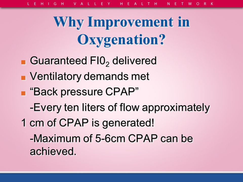 Why Improvement in Oxygenation
