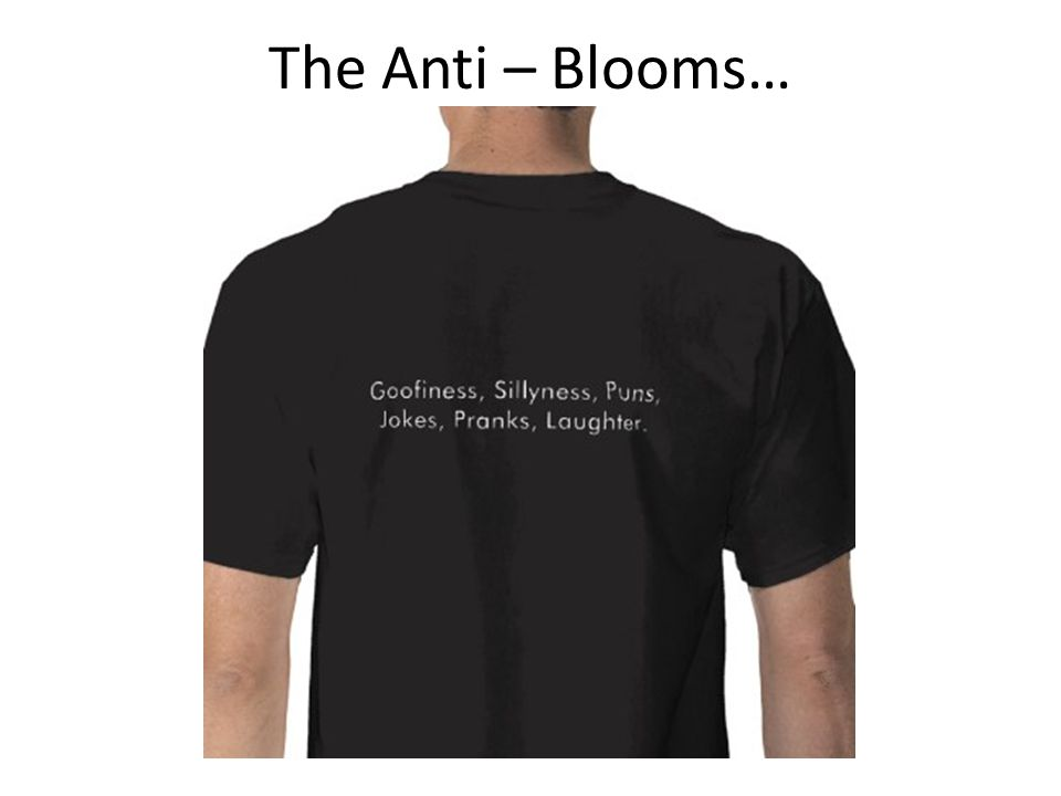 The Anti – Blooms…