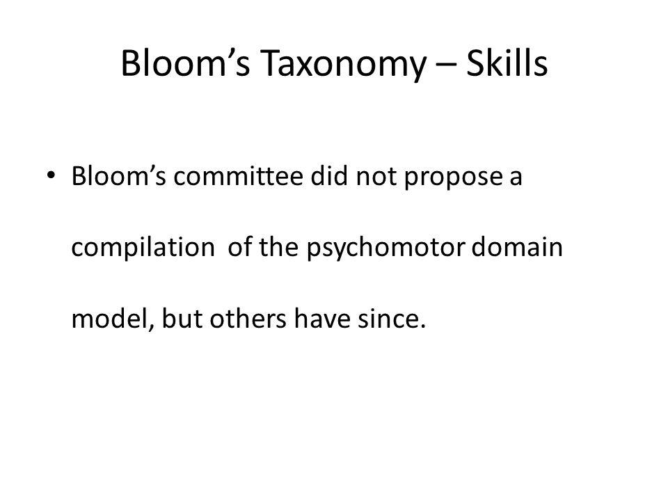 Bloom's Taxonomy – Skills
