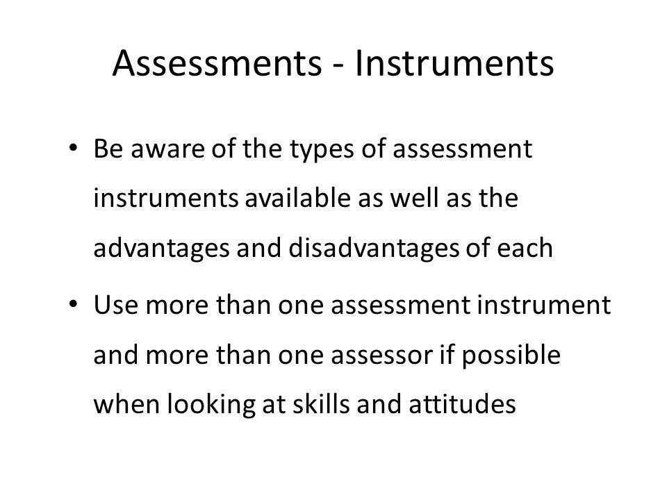 Assessments - Instruments