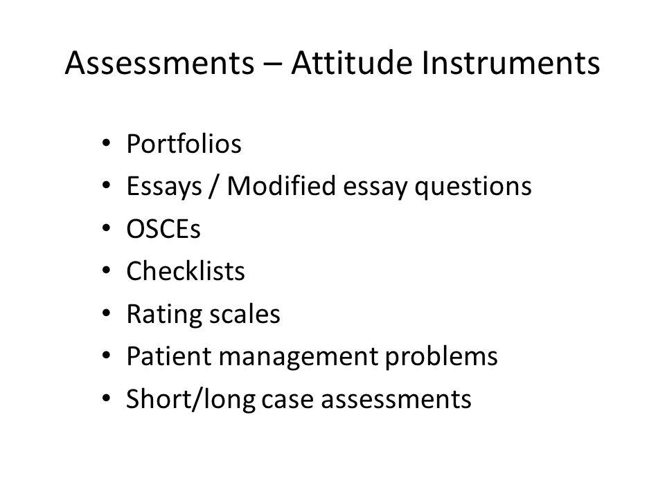 Assessments – Attitude Instruments