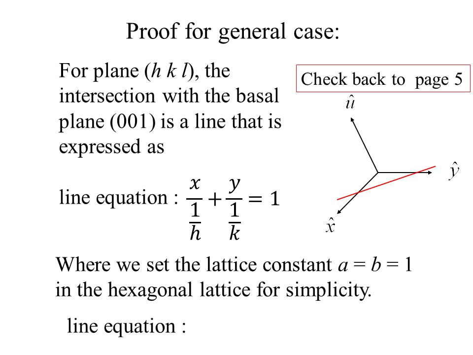 Proof for general case: