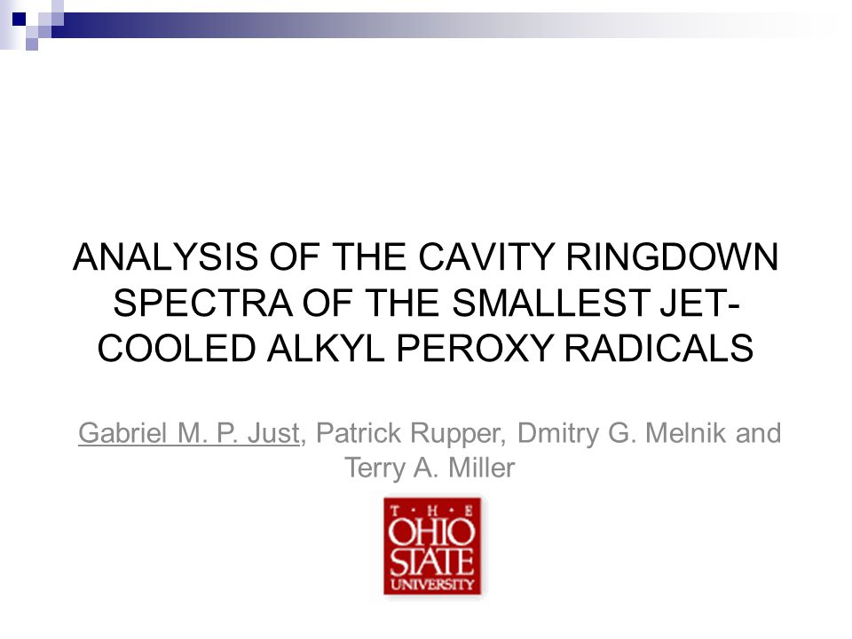 ANALYSIS OF THE CAVITY RINGDOWN SPECTRA OF THE SMALLEST JET-COOLED ALKYL PEROXY RADICALS