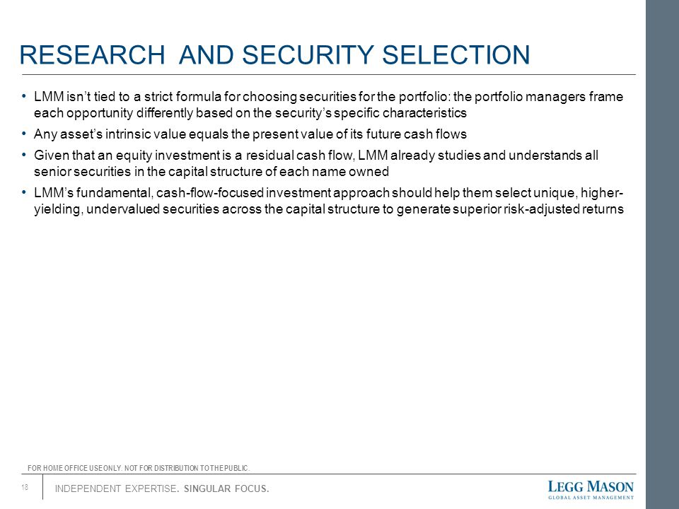RESEARCH AND SECURITY SELECTION