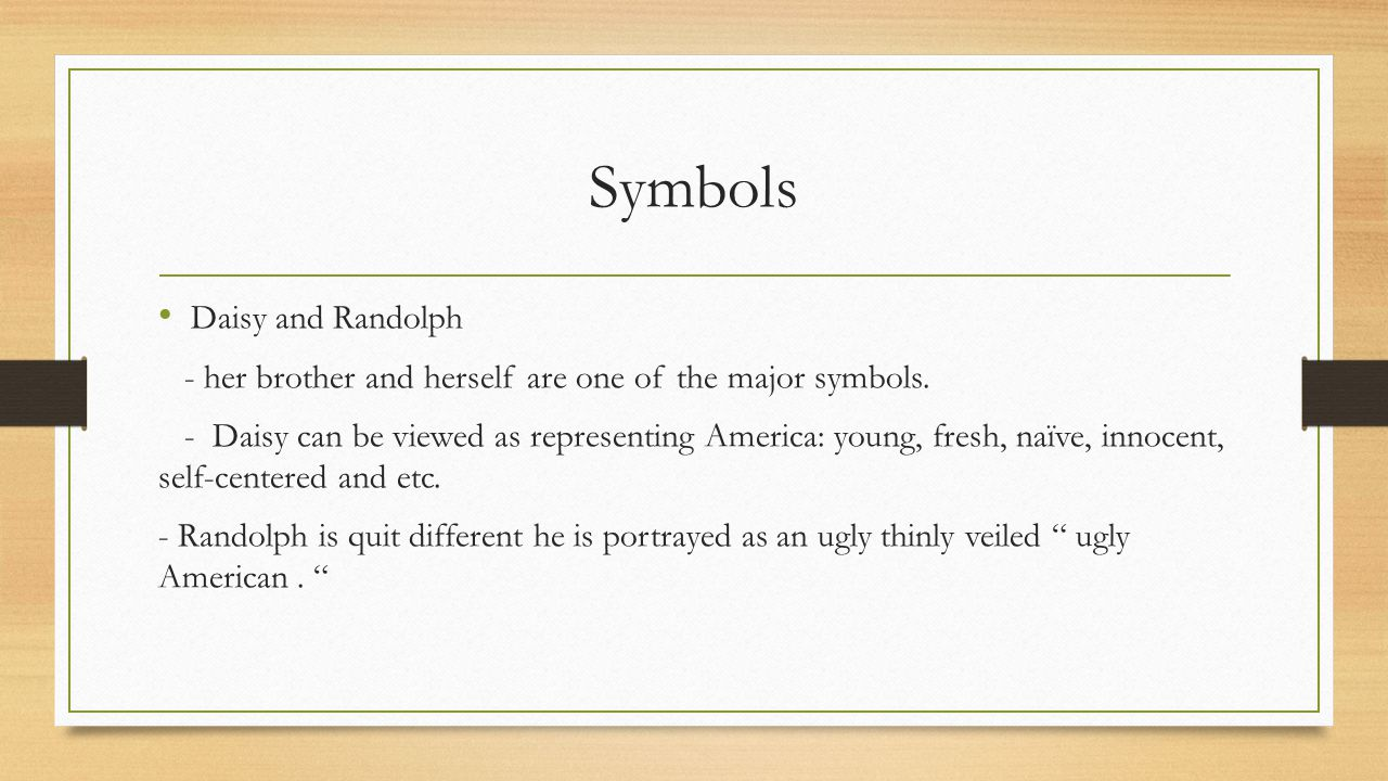 Symbols Daisy and Randolph