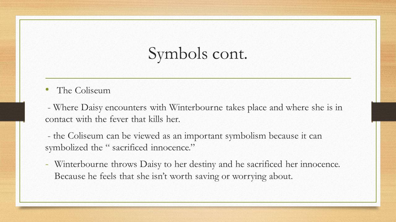 Symbols cont. The Coliseum