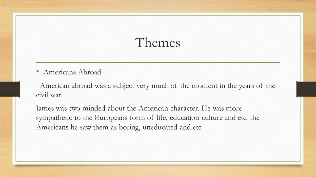 Themes Americans Abroad