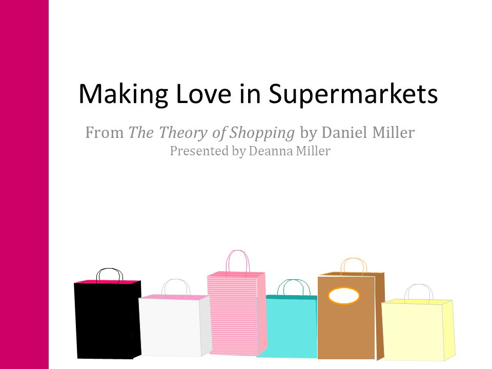 a theory of shopping miller daniel