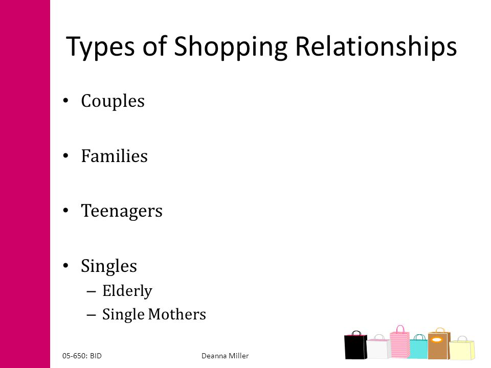 Types of Shopping Relationships