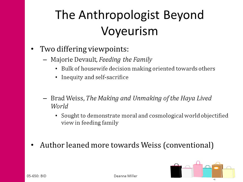 The Anthropologist Beyond Voyeurism